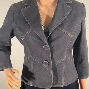 Bandolino crop stretch denim Jacket / blazer